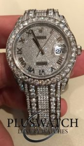 Rolex Pearlmaster 39mm Oyster White Gold Diamonds 86409RBR