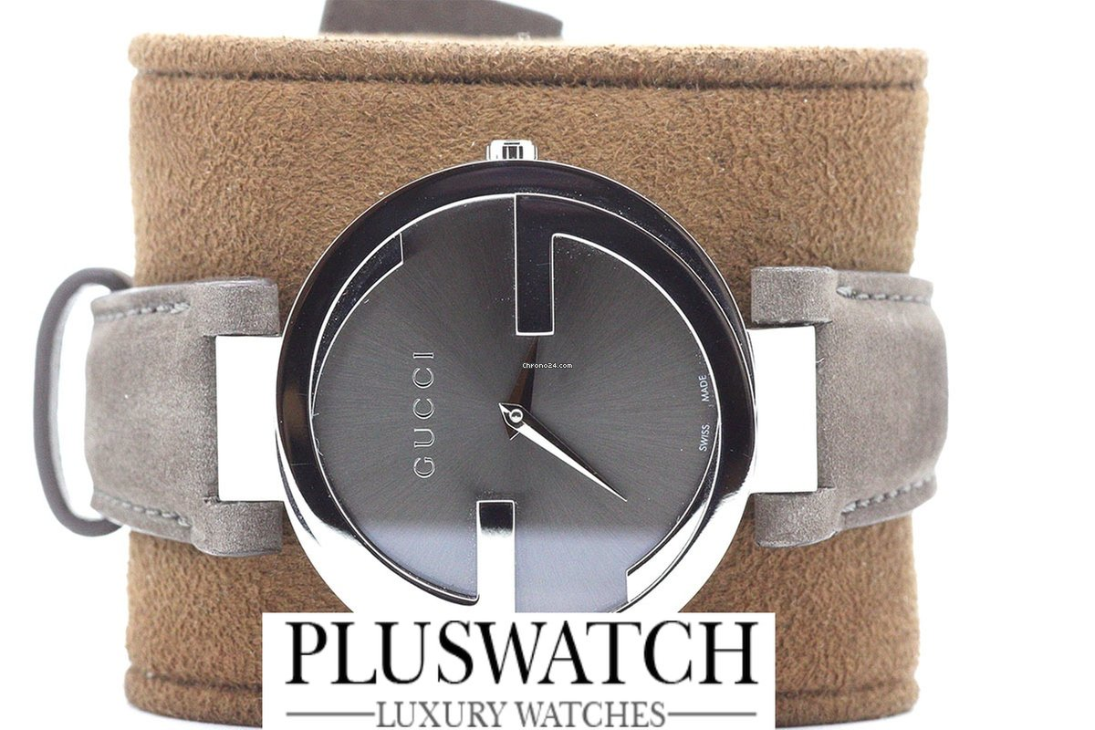 73d4ab8562b Gucci Interlocking Brown Dial Brown Leather YA133319 T » Plus Watch