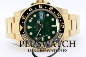Rolex GMT MASTER II 116718 LN Oro Gold GREEN DIAL
