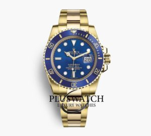 Rolex Submariner 116618LB Date Oro Gold 18K Blue Dial