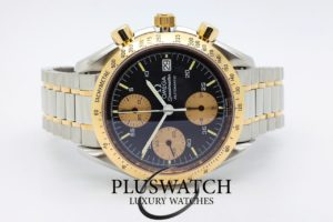 Omega Speedmaster Date Gold Steel Automatic 375.0043 2396