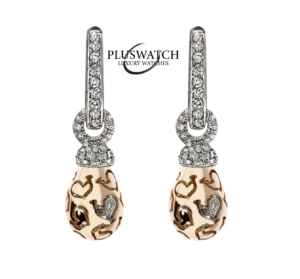 Chantecler Orecchini Earrings CAMPANELLA BELL Corto RoseWhite Gold Diam 24666 T