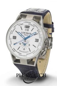 Locman Montecristo Dual Time Quarz Big Date 44 mm