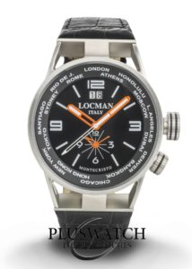 Locman Montecristo World Dual Time Quarz Big Date 44 mm