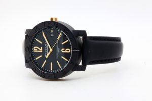 Bulgari Carbongold Via dei Condotti 40mm Black Dial 6494