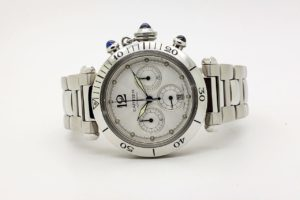 Cartier Pasha Chronograph 38mm 2000 6523 JUST SERVICED