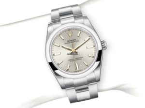 Rolex Oyster Perpetual 34mm Silver Dial 124200