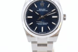 Rolex Oyster Perpetual 34mm Blue Dial 124200