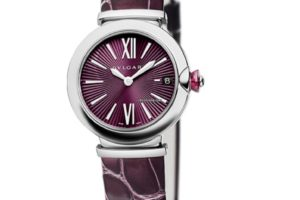 Bulgari Lucea Quartz 28mm Purple Dial Leather Strap 102566