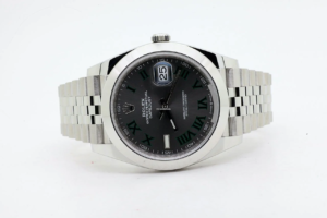 Rolex Datejust Oyster Perpetual Wimbledon 126300 41mm Grey Dial Jubilee 01/07/2021 8323 MY